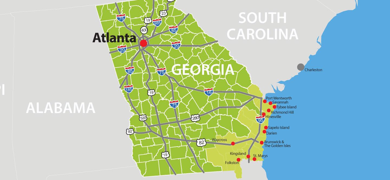 Map Of Georgia Golden Isles.Eagle Island Maps Jon Kohler Associates